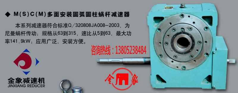 多面安装圆弧圆柱蜗杆减速器