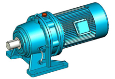 XW、XWD(8000系列)摆线针轮减速机实体模型