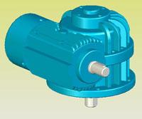 CWS圆弧圆柱蜗杆减速机实体模型(GB9147―88)