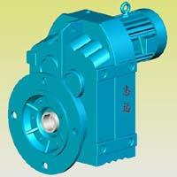 F系列平行轴斜齿轮减速机实体模型