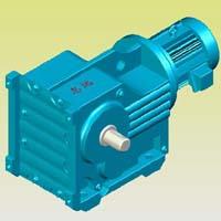 K系列螺旋锥齿轮减速机实体模型