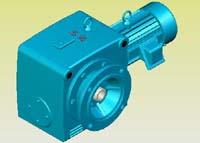 S系列斜齿轮―蜗杆减速机实体模型