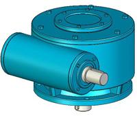 WC系列圆柱蜗杆减速机实体模型
