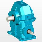 WXJ圆柱蜗杆减速器实体模型