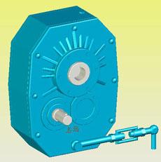 ZJY型轴装式圆柱齿轮减速器实体模型