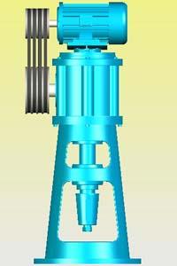 ZLZ系列直联型螺旋锥齿轮减速机实体模型
