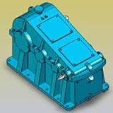 ZS、ZSH、ZSSH、三级圆柱齿轮减速器实体模型