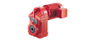 DCF series parallel shaft helical gear reducer motor