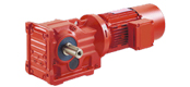 DCK series helical gears - spiral bevel gear reducer motor