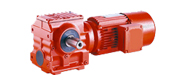 DCS series helical gears - worm gear motor