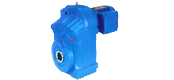 JRTF parallel shaft helical gear reducer motor