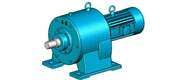 LCW type horizontal level two hardened cylinder gear reducer