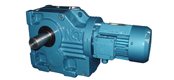 NK series helical bevel gear reducer