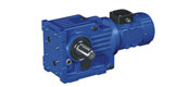 WK series helical bevel gear reducer motor