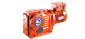 WXK series helical gears bevel gear reducer motor